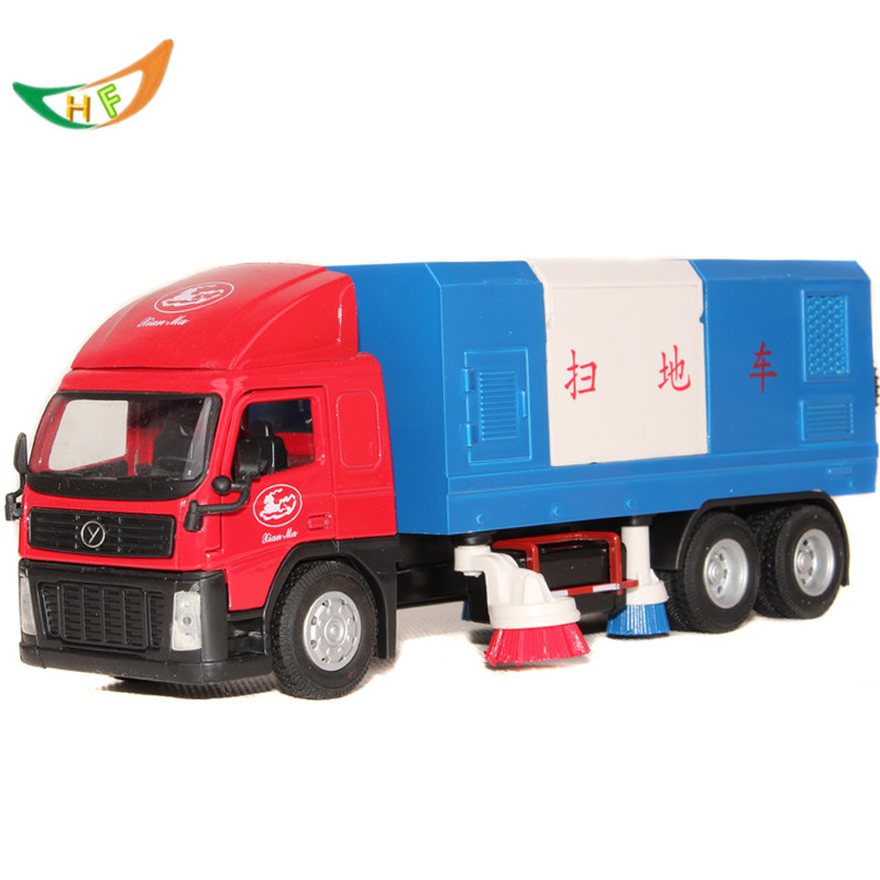 toy factory direct 1: 32 Horse city road sweeper sanitation clean scania truck alloy car model toy kids brinquedos(China (Mainland))