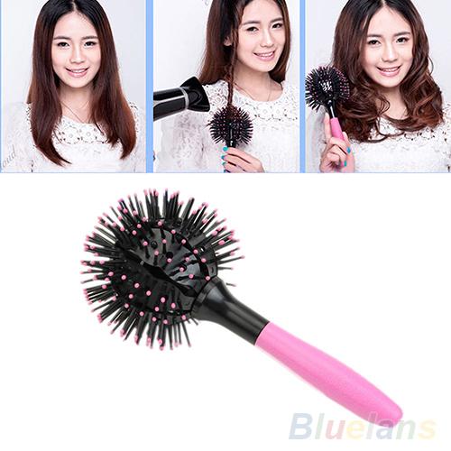 3D estilo de cabelo escova de cabelo Detangling salão de secagem de 2LC4
