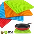 7 inch Silicone Pot Holder Trivet Mat jar Opener spoon Rest Non Slip Flexible Durable Heat
