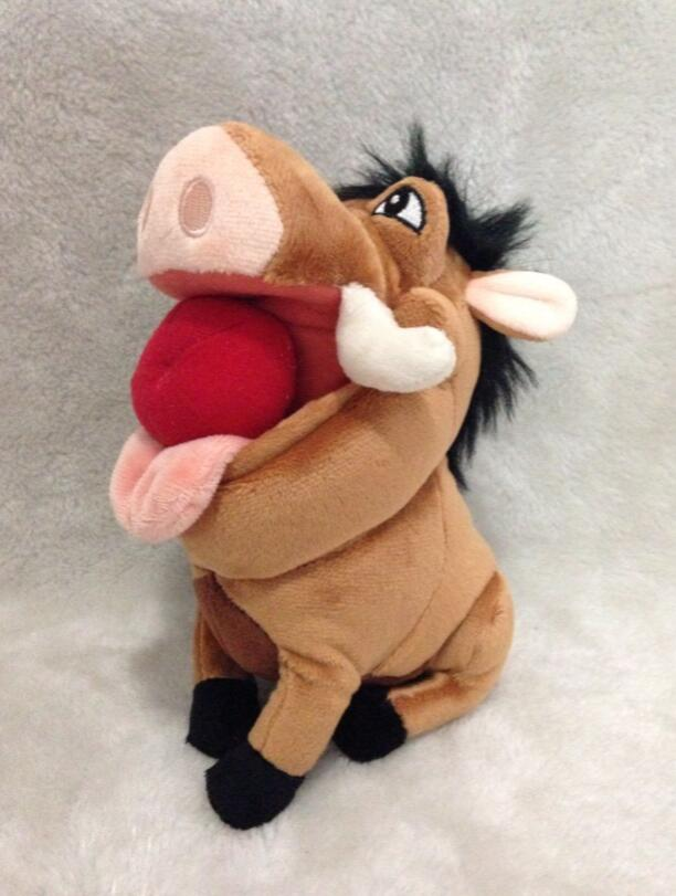 Discounted! The Lion King Plush Figure Pumba with Apple Plush Toys 21cm(China (Mainland))