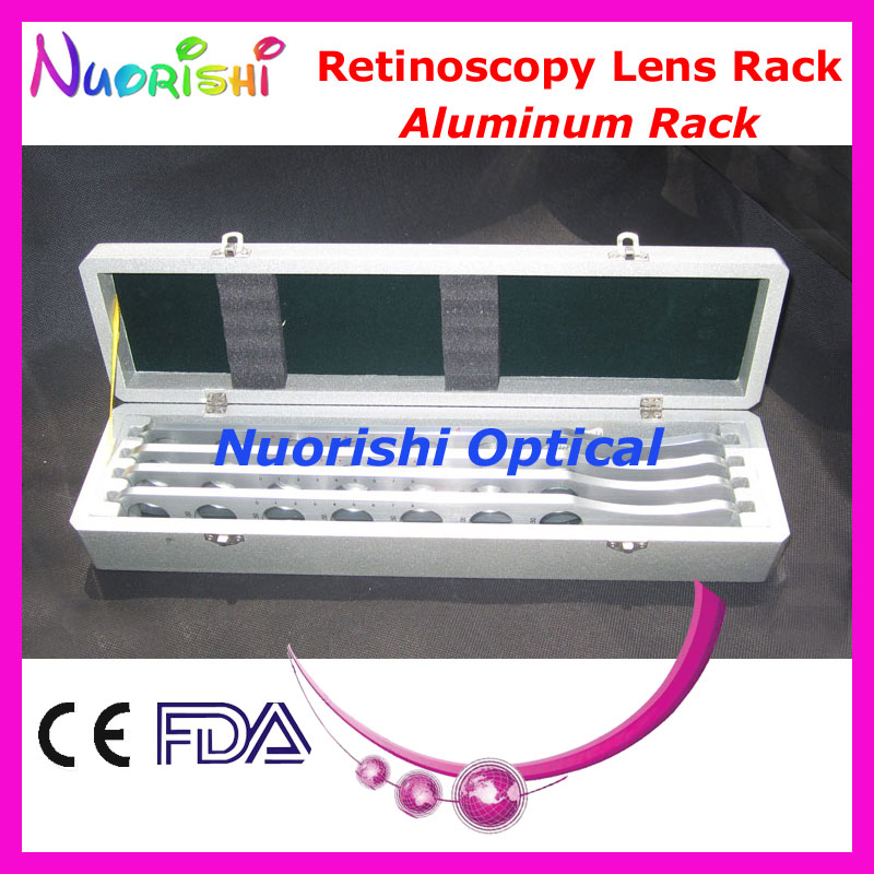 E03-3 Advanced Aluminum Retinoscopy Lens Rack Trial Board Lens Set Kit 4 Aluminum Bars Wooden Case Packed Lowest Shipping Costs(China (Mainland))