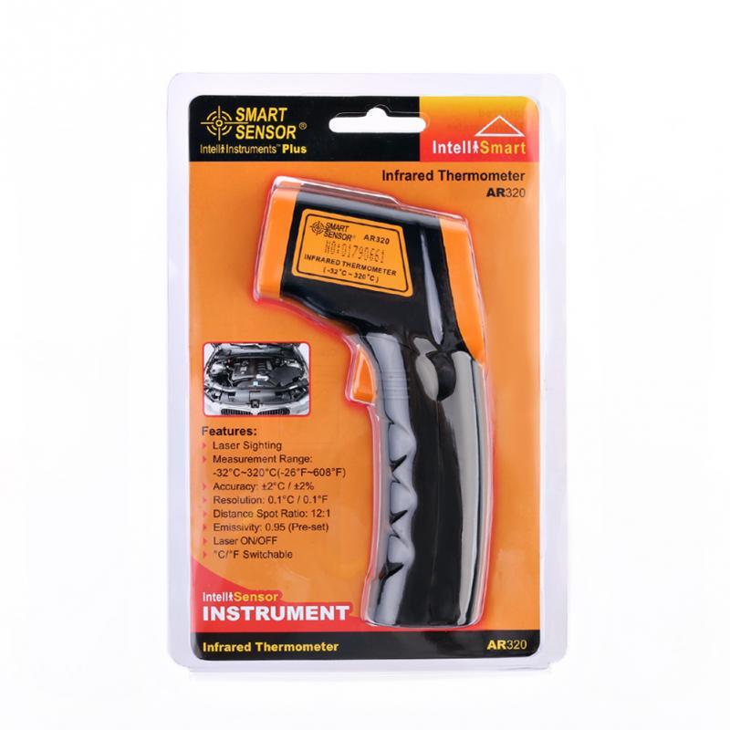 AR320 Infrared Thermometer LDC IR Display Digital Thermometer Non-Contact IR Laser Point Gun Pyrometer(China (Mainland))