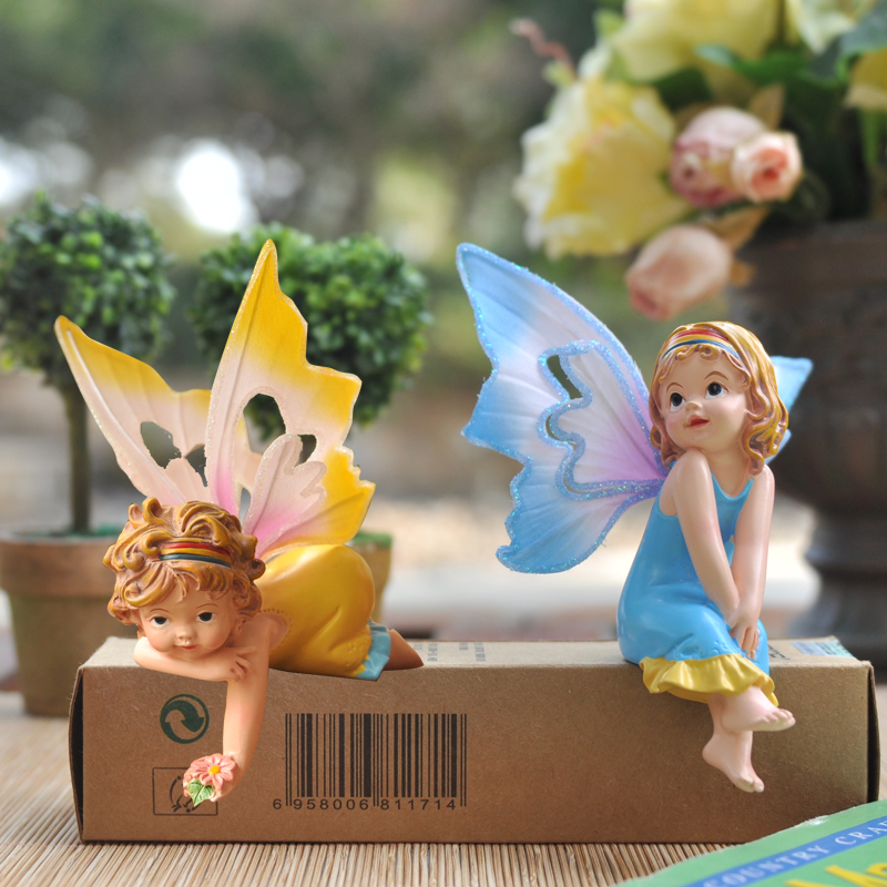 Resin Handicraft Home Decoration Cute Cartoon Beautiful Faery Angel Desktop Furnishing Articles The Bookcase/bedroom(China (Mainland))