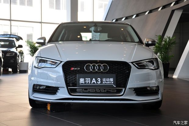 RS3 Style Black Honeycomb Mesh Front Bumper Grille For Audi A3 S3 2014-2015 Car Styling(China (Mainland))