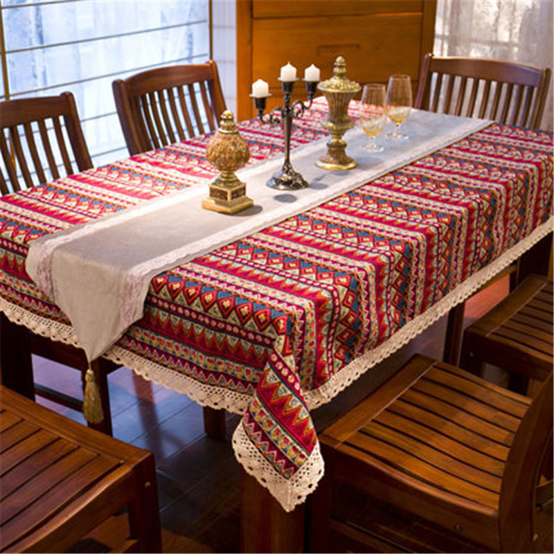 Free Shipping 2015 New Southeast Asia Tablecloth Cotton& Linen Table Cloth Waterproof Oilproof tablecover Chair Pad Pillow(China (Mainland))