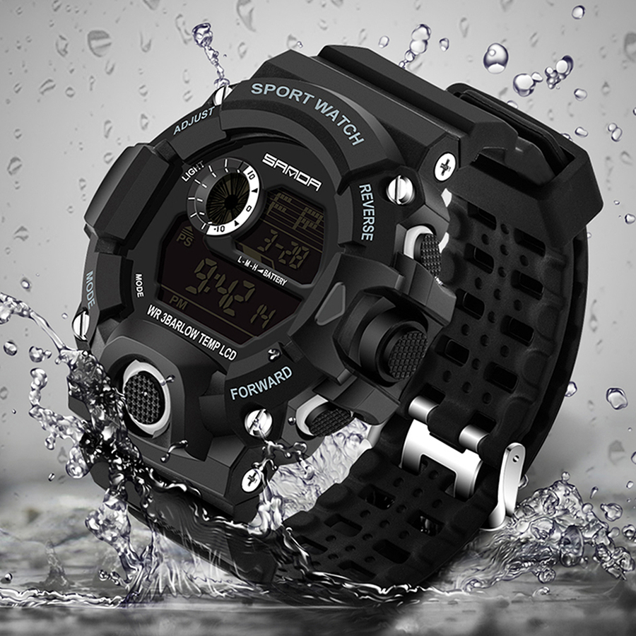 Men Sports Watches S-SHOCK Military Watch Fashion Wristwatches Dive Men's Sport LED Digital Watches Waterproof Relogio Masculino(China (Mainland))