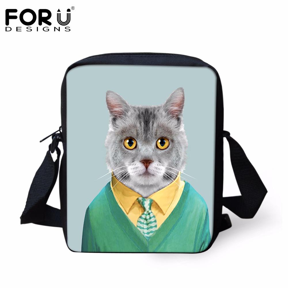 Brand Design Men's Casual Handbags,Hot 3D Dog Cat Animal Shoulder Cross-body Bags For Lady Guys,Portable Travel Messenger Bags(China (Mainland))