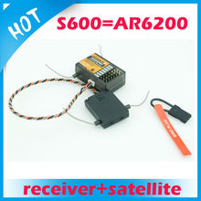 2.4GHz 6ch S600 RC Receiver with satellite function similar with AR6200 receiver for free shipping