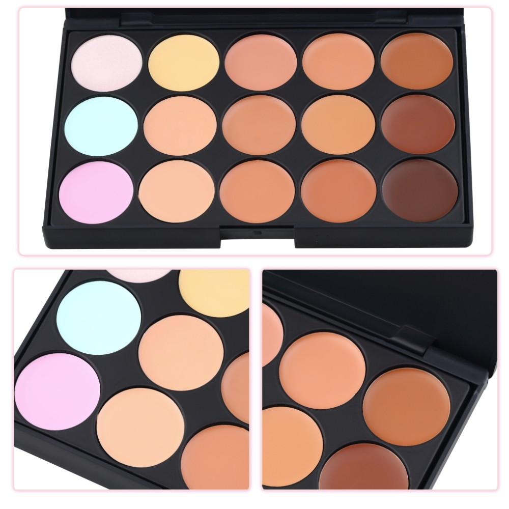 1 pc 2016 Professional 15 cores Concealer Neutral Palette maquiagem ferramentas cicatriz creme Facial corretivo Camuflagem Maquiagem marca