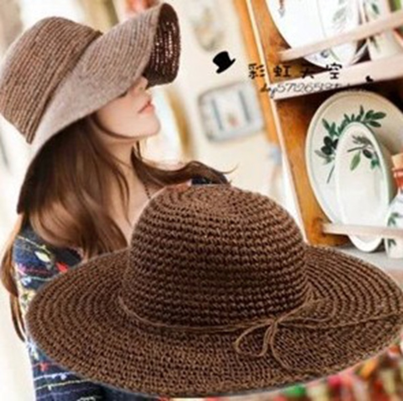 The new spring and summer hat straw hat wholesale Korean version of Ms. sun hat mesh caps Beach Hat(China (Mainland))