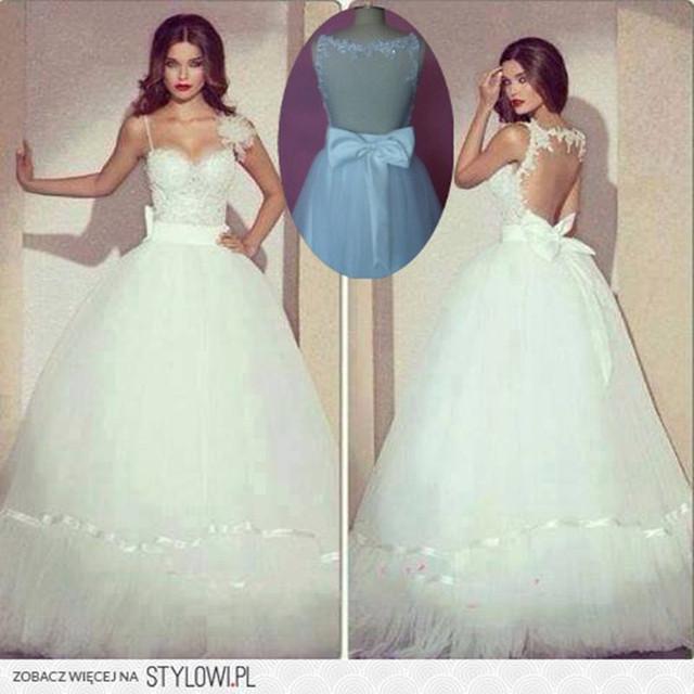 Кружева свадебные платья само шеи видеть сквозь элегантный свадебные платья Noiva ...