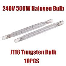 In stock New 10x Linear Lots Halogen Bulb Security Lamps Flood Lights 240v 500w Tungsten J118 Free Shipping(China (Mainland))