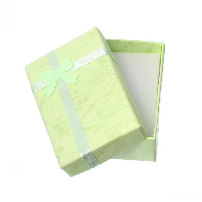 Retail Paper Jewelry Gift Boxes Cases For Ring Earring Rectangle Bowknot Green 8.3cm x 5.2cm(3 2/8 x2),16PCs <br><br>Aliexpress
