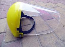 В head установлен пвх прозрачный желтый плексиглас маска защитное маска сразу