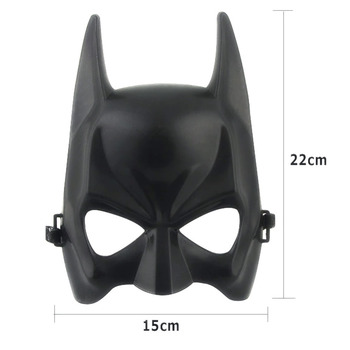 1pcs Hot Halloween Batman Mask Adult Black Masquerade Party Carnival Dressing Upper Half Face Mask For Man Cool Face Costume Kit