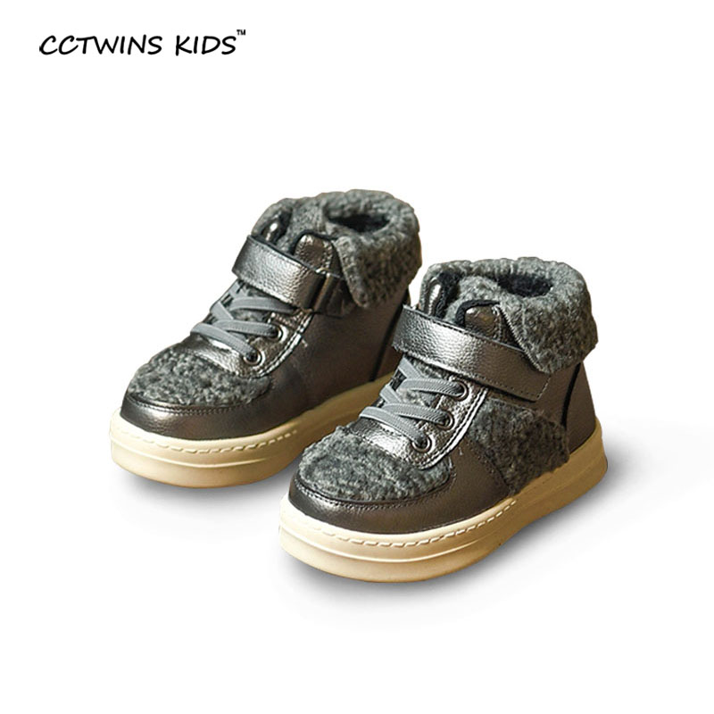 CCTWINS KIDS winter brand sneakers baby boys high top sneakers girls genuine leather shoes for children fashion running sneakers(China (Mainland))