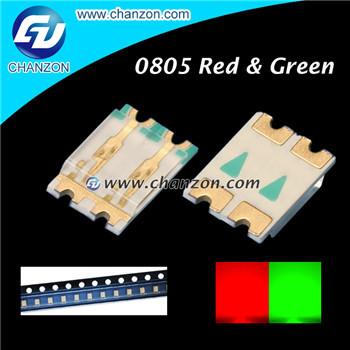 0808 LED 100PCS 0805 2012 SMD SMT Surface Mount Bi Color Red Green Ultra Bright LED SMD Light Emitting Diode LED Diode Lamp(China (Mainland))