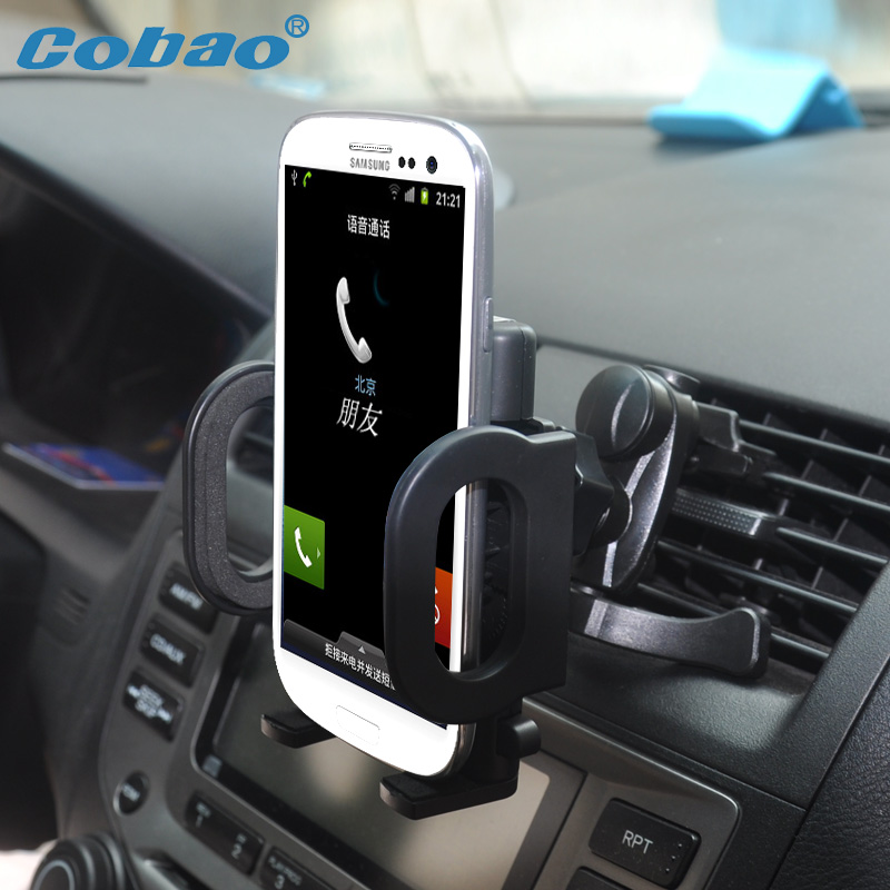 Cobao Universal Car Air Vent Mount Cradle Phone Holder Stand Soporte Movil for iPhone 5 5s 6 6 plus Samsung Galaxy S5 S6(China (Mainland))