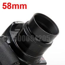 Buy 58mm Standard Metal Lens Hood Can&n Nik&n S&ny +free tracking number for $4.70 in AliExpress store