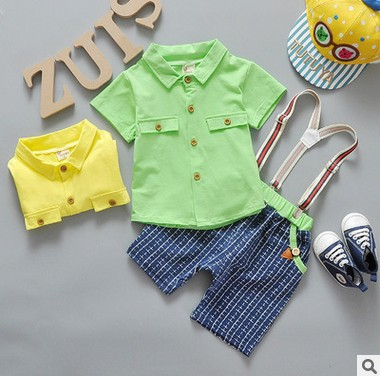 Baby Boys Suits Clothes Gentleman Suit Toddler Boys Clothing Infant Clothing Wedding Birthday cotton summer children's suits(China (Mainland))