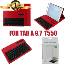 For Samsung GALAXY Tab A 9.7 T550 T555 Detachable Wireless Bluetooth Keyboard+PU Leather Case Stand Cover With Screen Protector