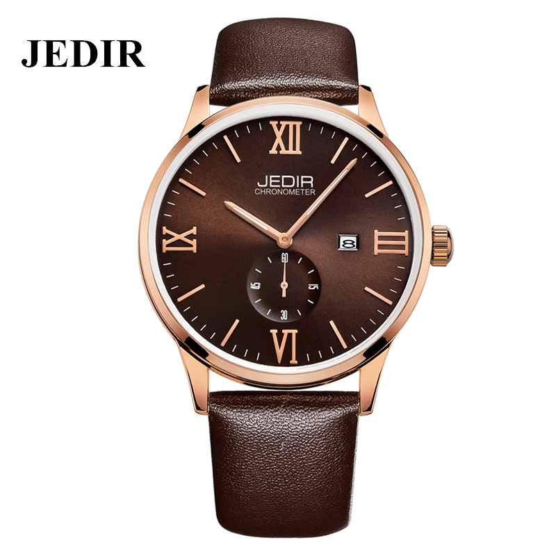 JEDIR Luxury Brand Men Watches Male Casual Fashion Watches Leather Strap Montres Simple Style Black Wristwatch With Original Box(China (Mainland))