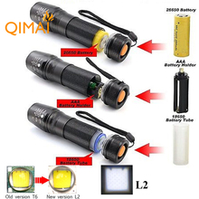 Waterproof RU USA E17 CREE XM-L2 4000Lumens cree led Torch Zoomable cree LED Flashlight Torch light 3xAAA or 1x18650 or 26650(China (Mainland))