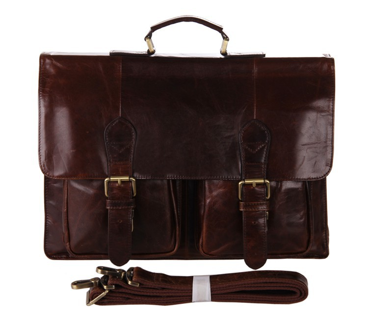 7105-2C J.M.D Rare Cowhide Leather Mens Briefcases Laptop Bag Dispatch Shoulder  Only For You<br>
