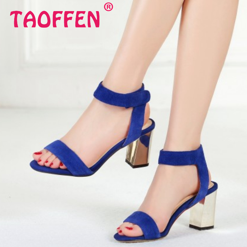 women real genuine leather stiletto peep toe ankle square heel sandals brand sexy fashion heeled lady shoes size 33-40 R6525<br><br>Aliexpress