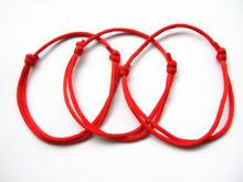 2pieces Handmade Red String Kabbalah Lucky Bracelet Against Evil Eye Success(China (Mainland))