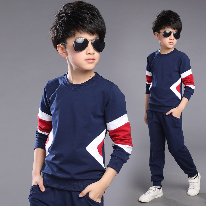2016 New Spring Autumn Kids Clothes Set Baby Boy And Teenage Boys Sport Clothing Sets Children Costume T-shirt+Pant 154(China (Mainland))