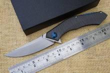 Shirogorov poluchetkiy cuchillo plegable plegable arandela de rodamiento jabalí acampar exterior herramienta lámina D2 titanium de la manija