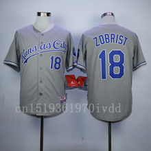 Cheap Mens KC High Quality 16 Bo Jackson 18 Ben Zobrist Throwback Jerseys Baseball jerseys Size:M-XXXL Free Shipping(China (Mainland))