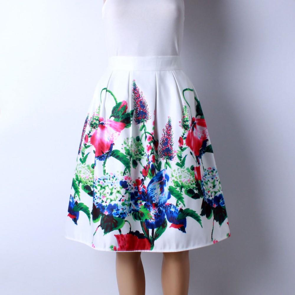 HTB1ghdcMXXXXXcMXpXXq6xXFXXXx - GOKIC 2017 Summer Women Vintage Retro Satin Floral Pleated Skirts Audrey Hepburn Style High Waist A-Line tutu Midi Skirt