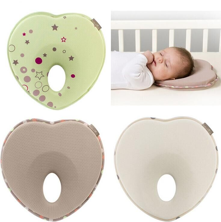Free Shipping Lovely Newborn Toddler Safe Memory Pillow Infant Pillow Sleep Head Positioner Preventing Flat Head