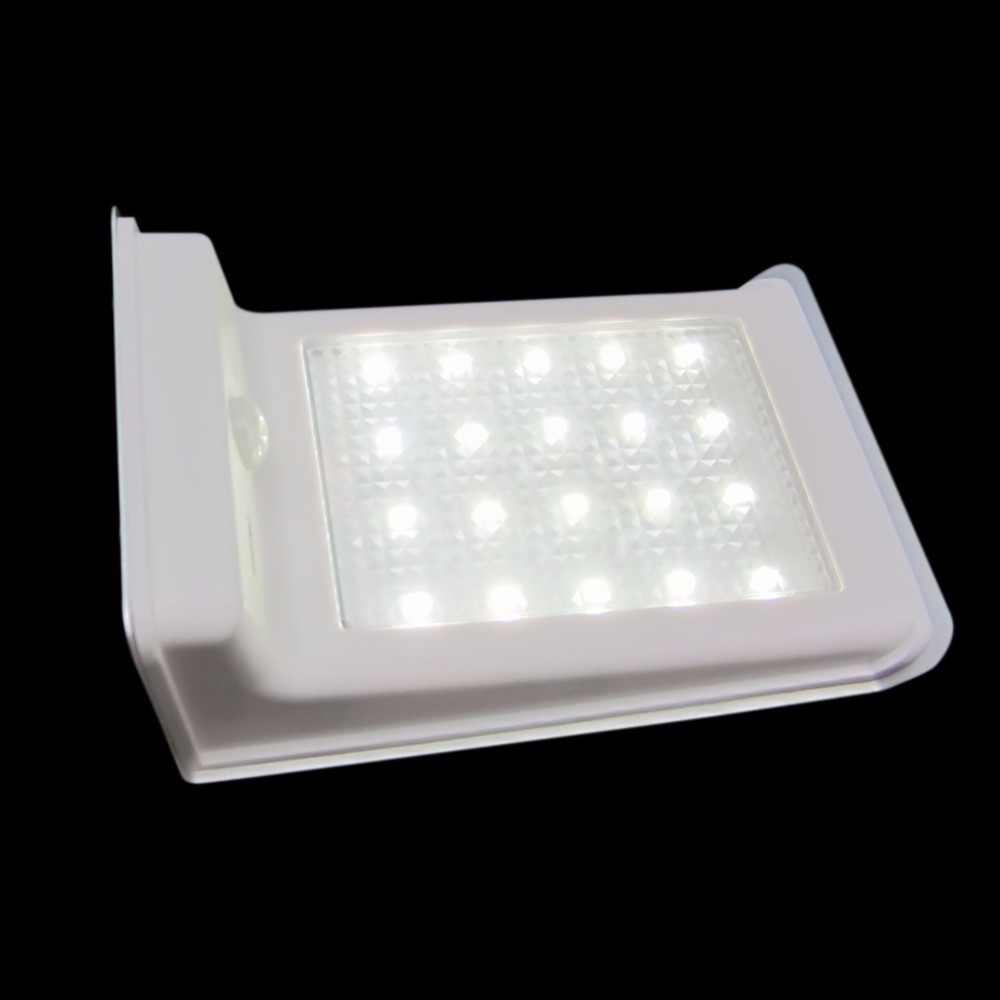 Solar Powered Wall Night Light Bright 20 LED Motion Sensor Detector Sconces Waterproof Outdoor Garden Patio Gutter Fence Lamp(China (Mainland))