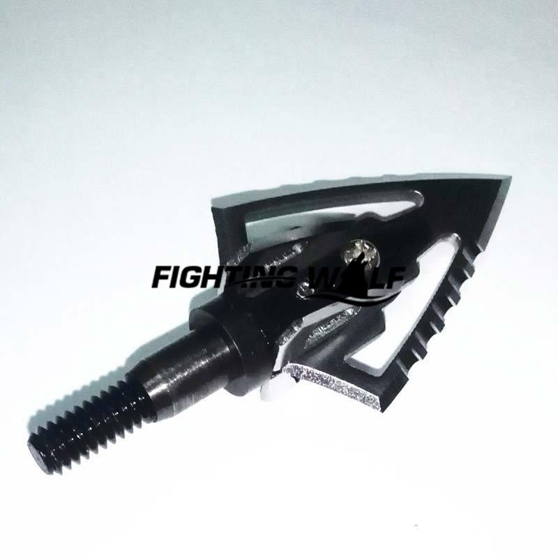 3pcs lot Outdoor Hunting Accessory Black Silver Fighter Style Blade Broadhead Sharp Archery Arrow Head Hunting