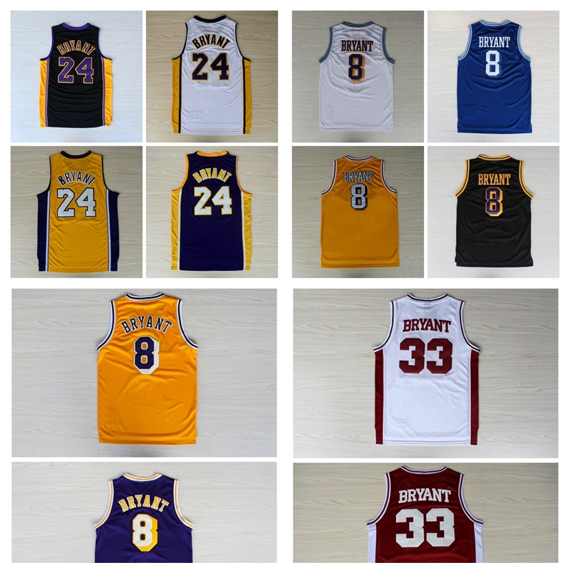 Kobe Bryant 24 Basketball Jersey, Cheap Basketball Jerseys Kobe Bryant New Rev 30 Brand Embroidery Logo, S-XXL Free Shipping(China (Mainland))