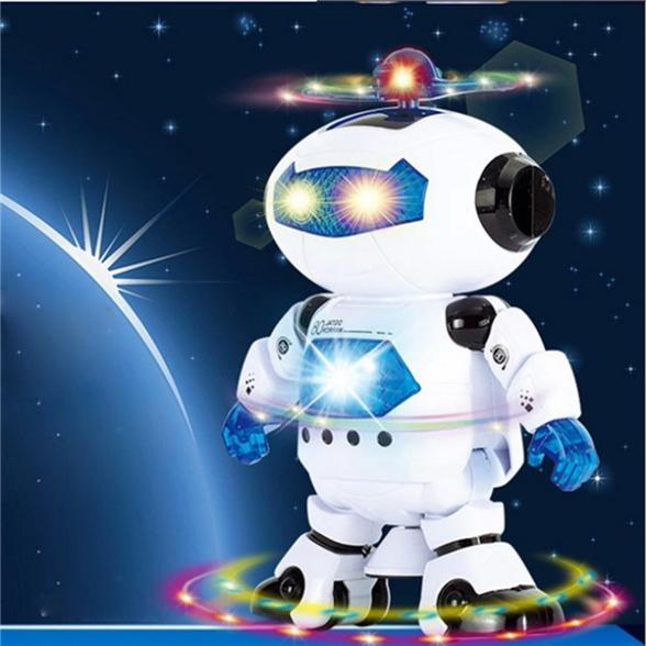 Electric Smart Space Walking Dancing Robot Children Kids Music Light Toys(China (Mainland))