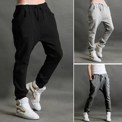 Best Price Sales Mens Jogger Dance Sportwear Baggy Harem Pants Casual Slacks Trousers Sweatpants US S M L(China (Mainland))