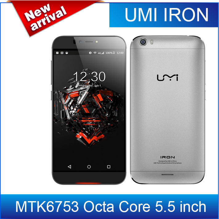 "-$8 discount!Original UMI IRON 5.5"" FHD 4G LTE Mobile Phone MTK6753 Octa Core 3GB RAM 16GB ROM Android 5.1 13MP+8MP OTG(China (Mainland))"