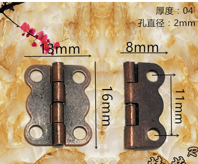 Furniture Handle & Knob 16mm*13mm small red bronze butterfly hinges 180 degree wooden lace(China (Mainland))