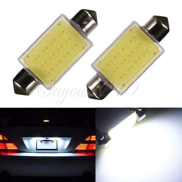 Big Promotin White 41MM 12 Chips COB C5W Car Auto Festoon Dome Interior LED Lights Lamp