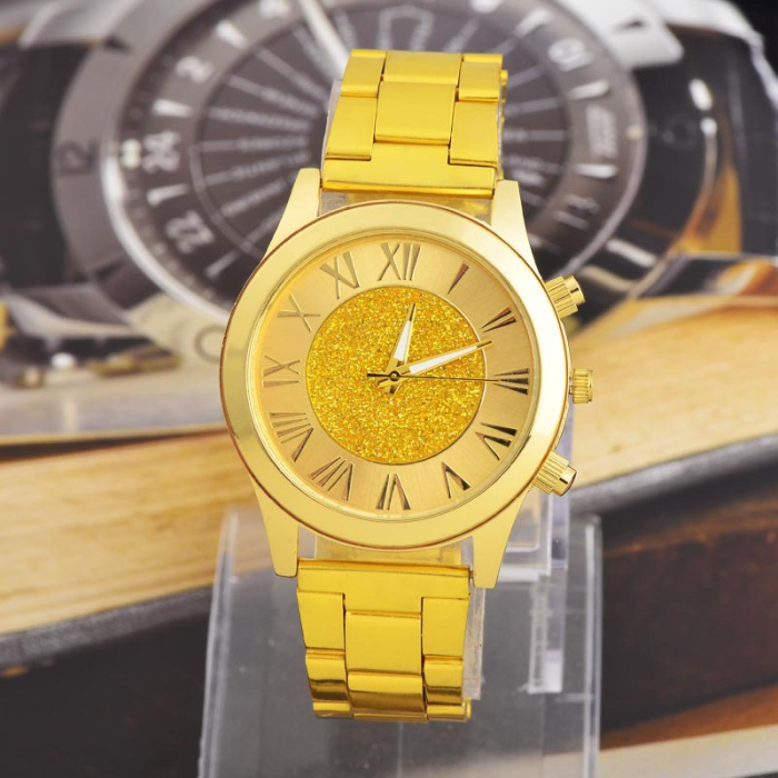 2014 New Fashion Men Gold Watch 18K Brand Quartz Casual Stainless Steel Male Clock Wristwatches Relogio Masculino relojes - SaiNa Trading Limited store