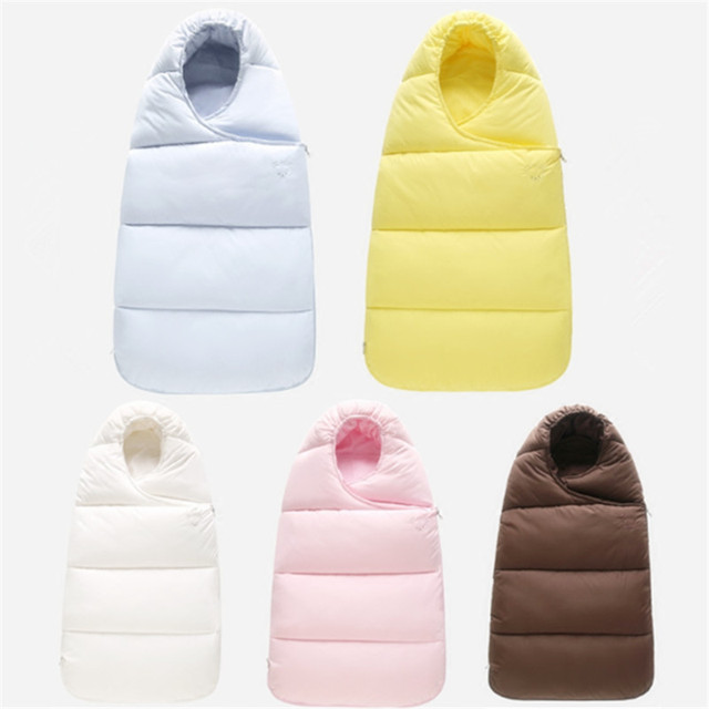 Age 4-9M Хлопок baby sleeping bag winter Сплошной baby sleep sack Unisex envelopes ...