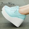 Wedge high heels mujer Platform Heels ladies Canvas Shoes Stylish and comfortable platform shoes casual shoes