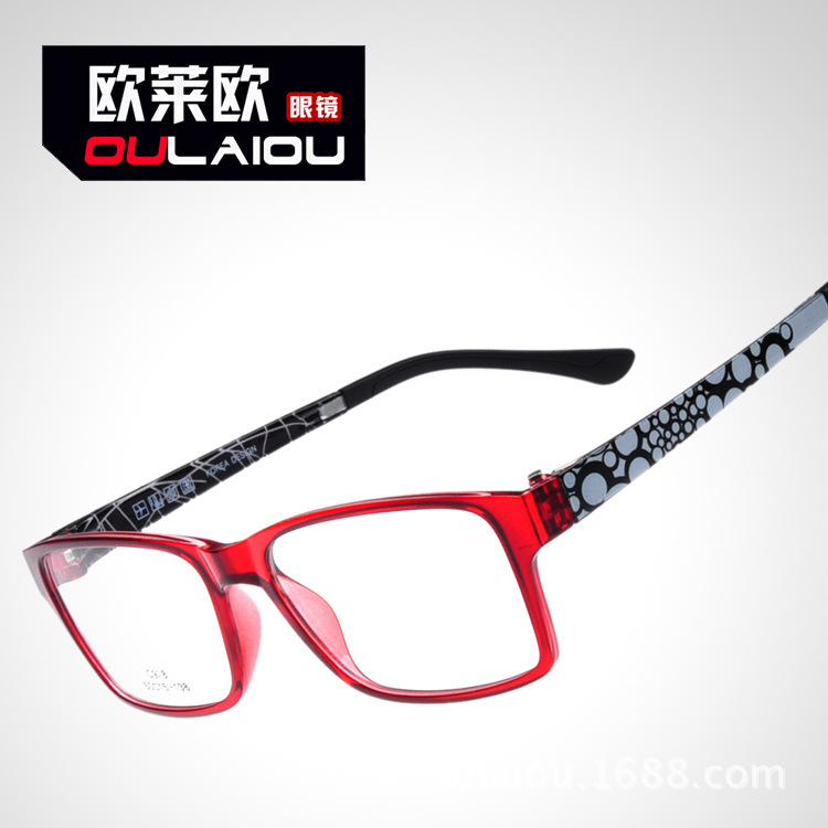 Ou Laiou C978 HD TR90 imitation black titanium steel legs lightweight steel frames with myopia glasses frame(China (Mainland))