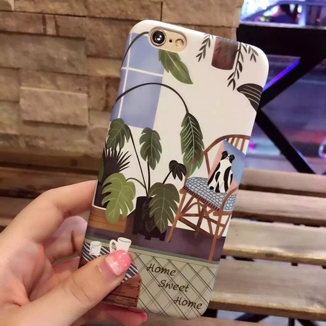 Case iPhone 5/5S/6/6S/6Plus/6SPlus Plants