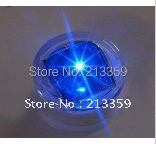Free shippng for 2013 New Solar LED Traffic Sign security light Road Studs Mark Light Steady ON (5Colors) Hot!