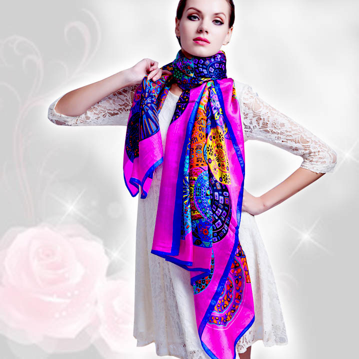 aliexpress buy 2016 winter 100 real silk scarf wrap
